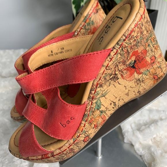 Born Concept Womens 8 Sandals Cork Wedge